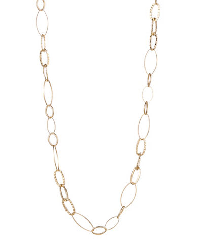 Expression Linked Oval Necklace-GOLD-One Size