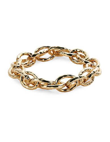 Expression Goldtone Oval Link Chain Bracelet-GOLD-One Size