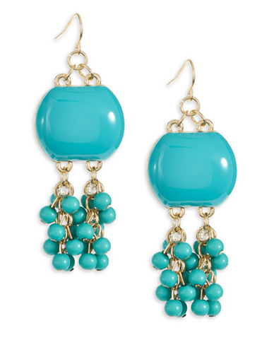 Expression Cluster Drop Earrings-BLUE-One Size