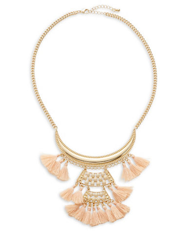 Expression Filigree and Tassel Bib Necklace-PASTEL-One Size