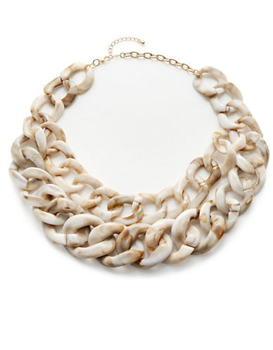 Expression Double-Row Graduated Chain Necklace-BEIGE-One Size