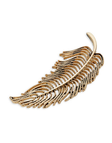 Expression Leaf Brooch-GOLD-One Size
