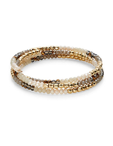 Expression Beaded Coil Bracelet-MULTI-One Size