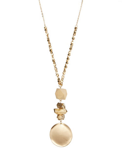 Expression Cluster Linear Drop Necklace-GOLD-One Size