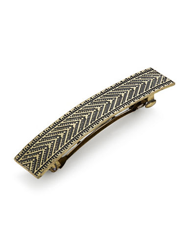 Expression Chevron Barrette-GOLD-One Size