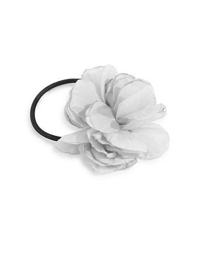 Expression Flower Chiffon Hair Tie-GREY-One Size