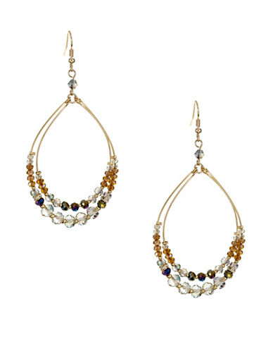 Expression Beaded Gypsy Hoops-BROWN-One Size