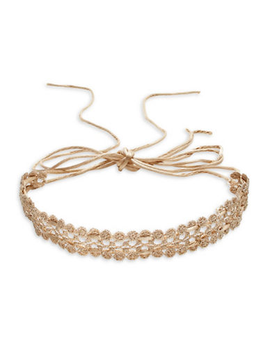 Expression Lace Flower Choker-GOLD-One Size