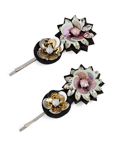 Expression Two-Piece Flower Navettes Bobby Pins-MULTI-One Size