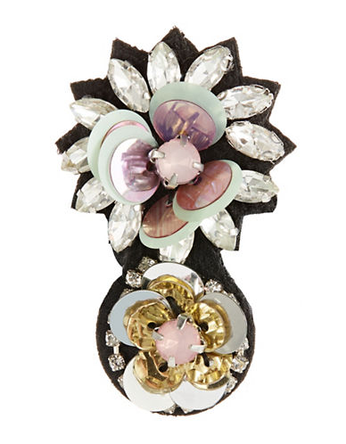 Expression Flowers Navette  Brooch-PINK-One Size