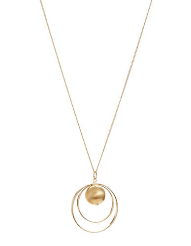 Expression Ring Pendant Necklace-GOLD-One Size