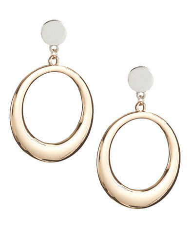 Expression Two-Tone Gypsy Hoops-GOLD-One Size