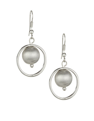 Expression Framed Bead Drop Earrings-GREY-One Size
