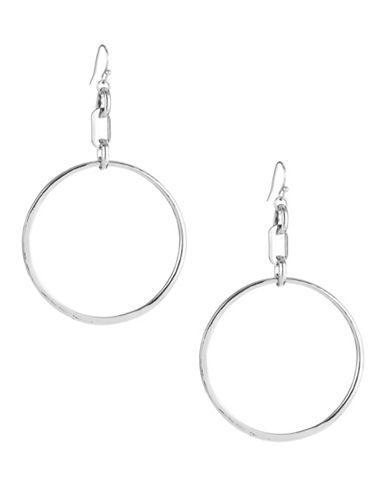 Expression Drop Hoop Earrings-SILVER-One Size