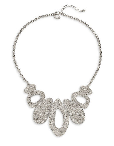 Expression Textured Statement Necklace-SILVER-One Size