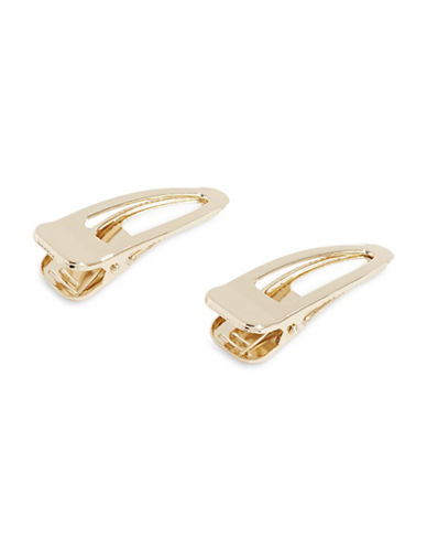 Expression Two-Pack Oval Hair Clips-GOLD-One Size