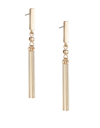 Expression Drop Bar Earrings-GOLD-One Size