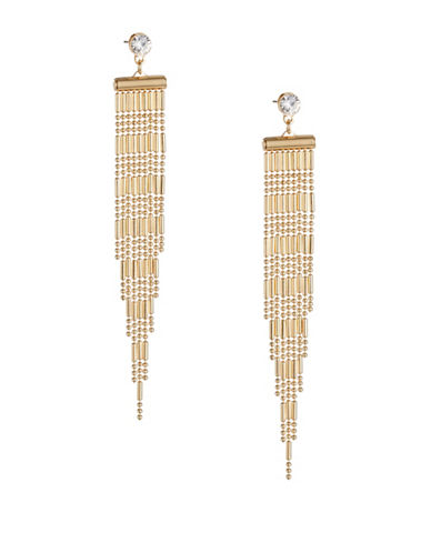 Expression Chandelier Chain Drop Earrings-GOLD-One Size