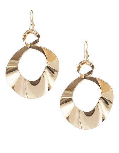 Expression Spiral Drop Earrings-GOLD-One Size