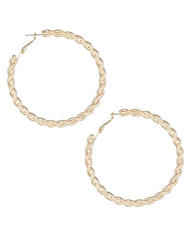 Expression Twisted Hoop Earrings-GOLD-One Size