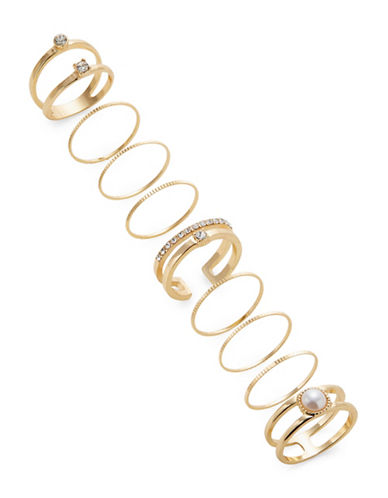 Expression Nine-Pack Assorted Rings-GOLD-9