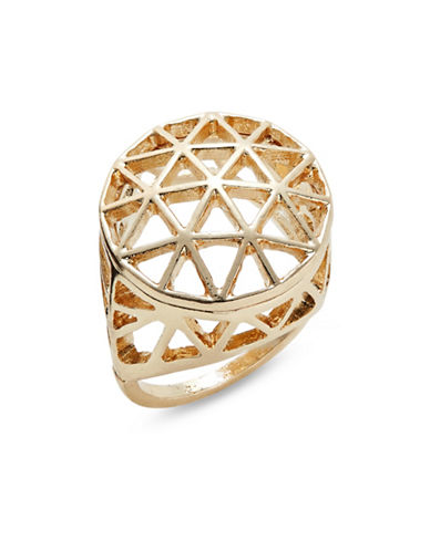 Expression Triangle Filigree Ring-GOLD-9