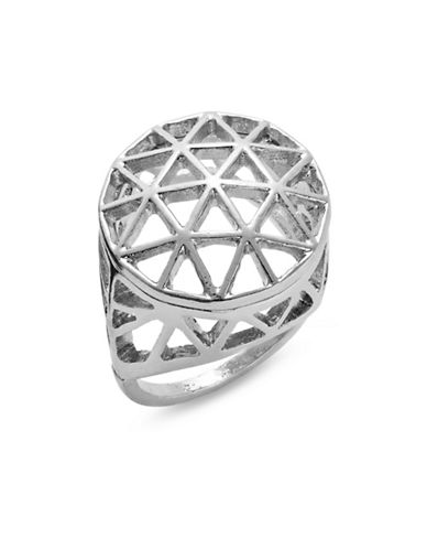 Expression Triangle Filigree Ring-SILVER-8