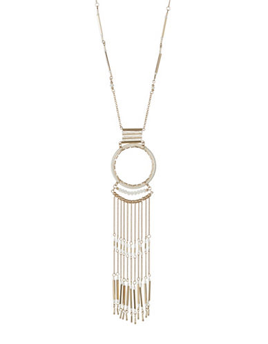 Expression Threaded Pendant Necklace-WHITE-One Size