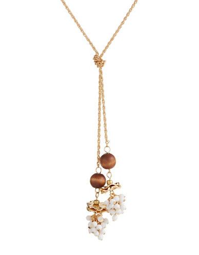 Expression Knotted Cluster X Necklace-BROWN-One Size
