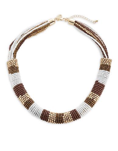 Expression Seedbead Coil Multi-Strand Necklace-MULTI-One Size