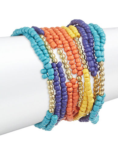 Expression Seven Pack Seed Bracelets-ASSORTED-One Size
