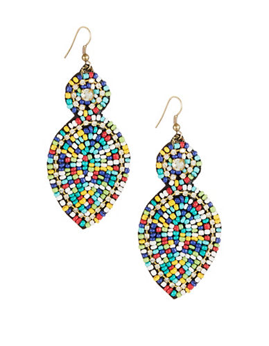 Expression Multi-Seed Beed Drop Earrings-MULTI-One Size