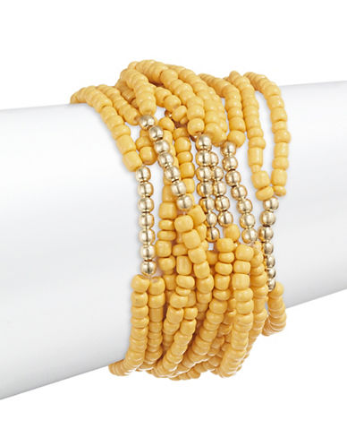 Expression Seven Pack Seed Bracelets-YELLOW-One Size