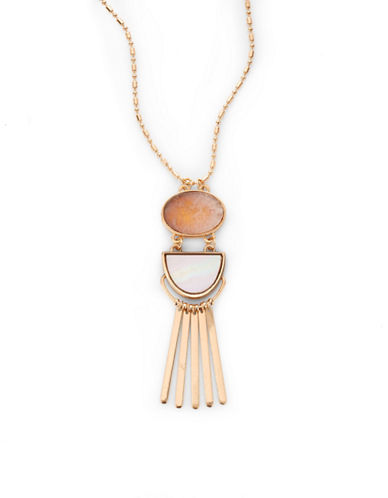 Expression Geo Tassel Pendant Necklace-PINK-One Size