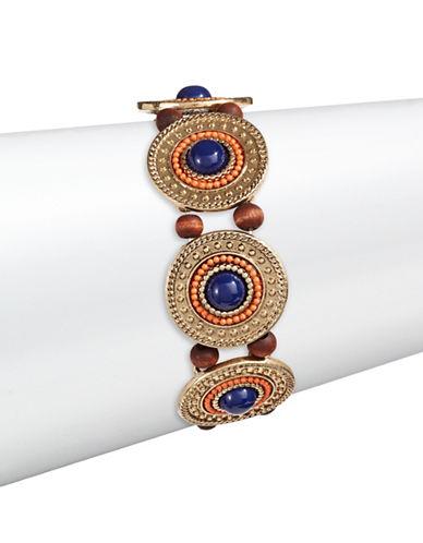 Expression Beaded Disc Stretch Bracelet-MULTI-One Size