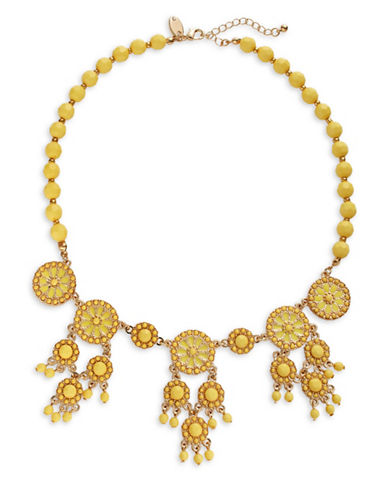 Expression Dangle Disc Necklace-YELLOW-One Size