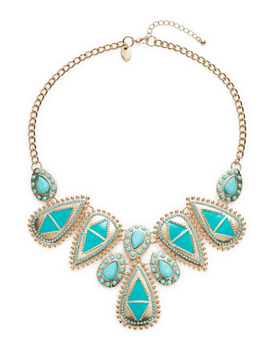 Expression Teardrop Statement Necklace-BLUE-One Size