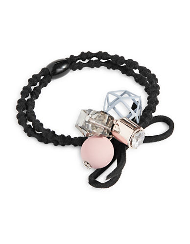 Expression Cubic Stones Hair Tie-PINK-One Size
