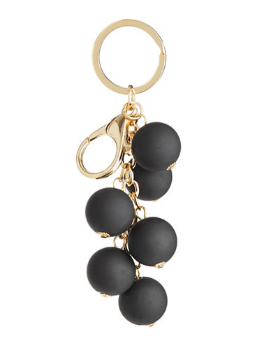 Expression Painted Bead Keychain-BLACK-One Size