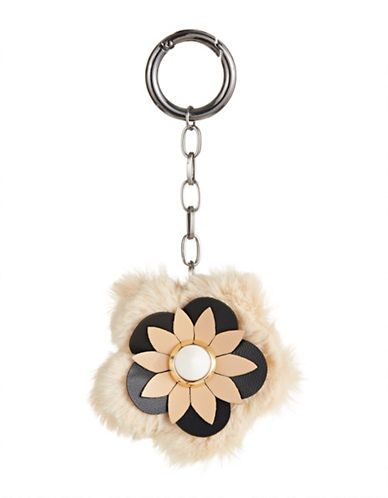 Expression Flower Pom Pom Key Chain-BEIGE-One Size