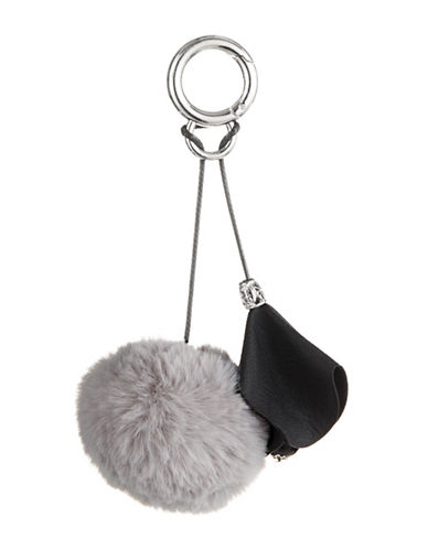 Expression Pom Pom Key Chain-GREY-One Size