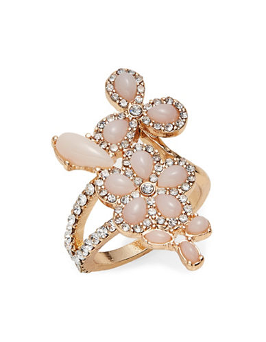 Expression Teardrop Stones Pave Ring-PINK-8
