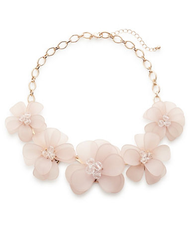 Expression Floral Statement Necklace-PASTEL-One Size