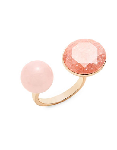 Expression Open Asymmetrical Stone Ring-PINK-9