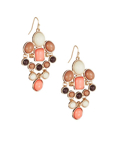 Expression Multi Stone Drop Earrings-MULTI-One Size