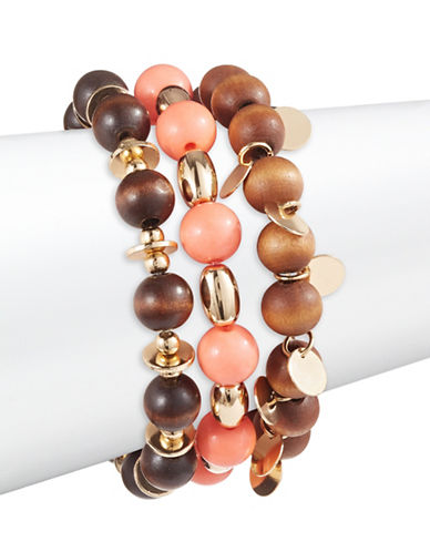 Expression Three-Piece Stretch Bead Bracelet Set-ASSORTED-One Size
