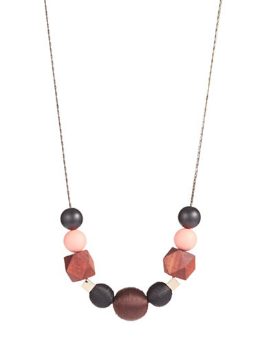 Expression Geometric Bead Necklace-MULTI-One Size