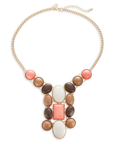 Expression Multi Stones Collar Necklace-MULTI-One Size