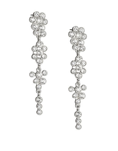 Expression Chain Cluster Drop Earrings-SILVER-One Size