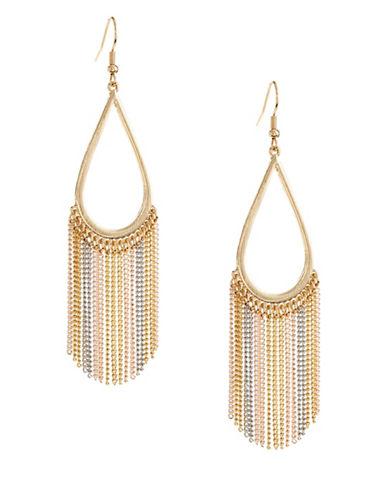 Expression Teardrop Drop Earrings-GOLD-One Size